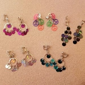 Bundle of 5 Clip On Earrings